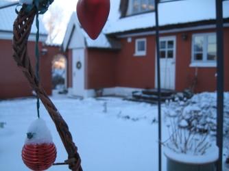 Møn Bakkegaard Gæstgiveri Innenhof Winter