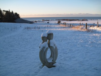 Møn Bakkegaard Gæstgiveri Meerblick im Winter