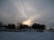 Møn Ulvshale im Schnee
