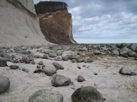 Møns Klint Kreidefelsen Strand von Møns Fyr bis Graaryg Fald 039
