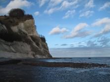 Møns Klint Kreidefelsen Strand von Møns Fyr bis Graaryg Fald 230