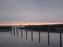Nyord Hafen im Winter 1