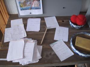 Handlungsplan Roman Szenenzettel