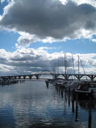 Kalvehave Havn Blick auf Brücke nach Møn