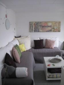 Mein Schlafzimmer in der Pension Bakkegaard Gæstgiveri Møns Klint