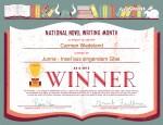 National Novel Writing Month Winner 2015