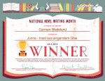 National Novel Writing Month Winner 2015