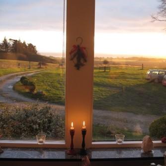 Lichter Himmel (Ausblick von der Pension Bakkegaard)