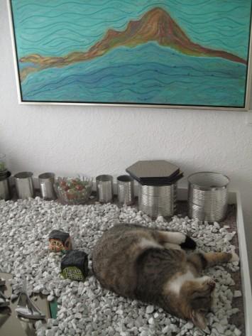 ... sogar den kantigen Granit, den ich wieder aussortierte.