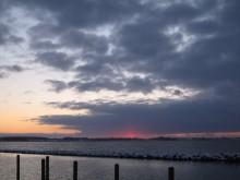 Bogø havn solnedgang i sne 125