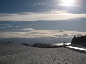 Møn ved Møns Fyr i sne 2016