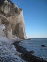 Møns Klint ved Graaryg Fald i sne 165