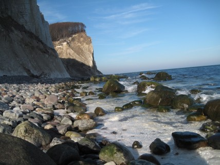 Strand og klint fra Møns Fyr mod Gråryg Fald 004