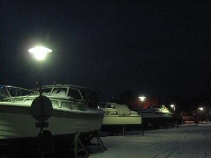 Sydsjælland Kalvehave havn i sne 214