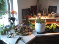 Adventskranz – Material aus dem Garten