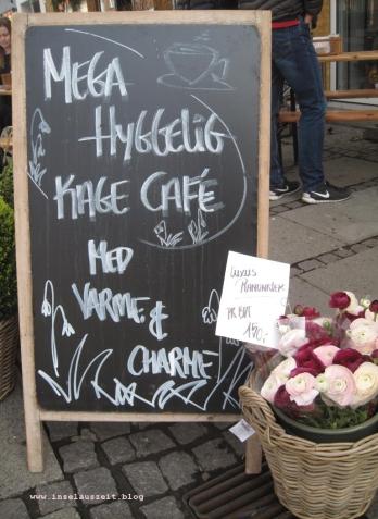 Hygge-Schild Café in Køge