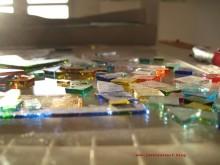 Glas Mosaik Roman Inspiration Scherben farbig 01