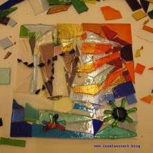 Glas Mosaik Roman Inspiration Scherben farbig 05