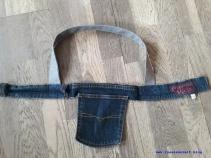 03 04 Tasche aus alter Stickerei und Jeans Upcycling Fischer Skagen nähen