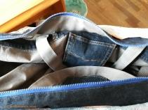 03 07 Tasche aus alter Stickerei und Jeans Upcycling Fischer Skagen nähen