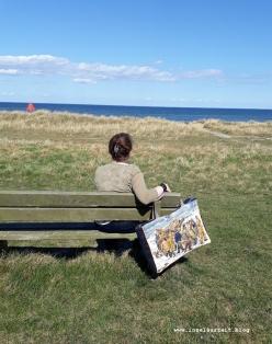 04 Strand Møn 5 Tasche aus alter Stickerei und Jeans Upcycling Fischer Skagen nähen