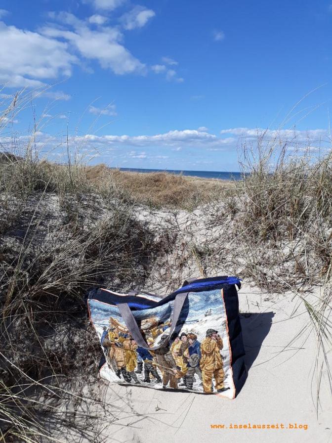 04 Strand Møn 8 Tasche aus alter Stickerei und Jeans Upcycling Fischer Skagen nähen