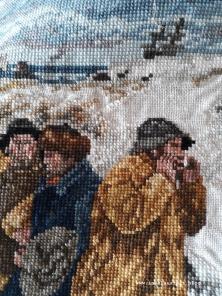 04 Strand Møn 9 Tasche aus alter Stickerei und Jeans Upcycling Fischer Skagen nähen