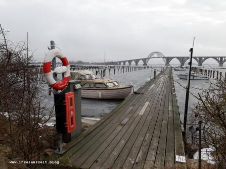 Winterbilder aus Dänemark Dronning Alexandrines Bro Mønbroen Brücke von Kalvehave nach Koster