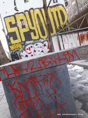 Winterbilder aus Dänemark Graffiti in Kopenhagen København