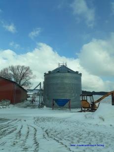 Winterbilder aus Dänemark Silo im Schnee